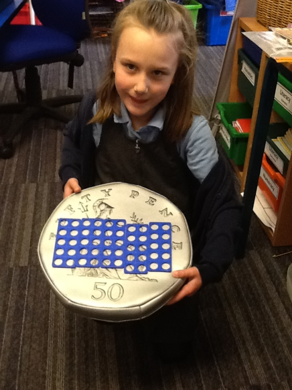 KS1 Using Numicon to help understand the value of coins