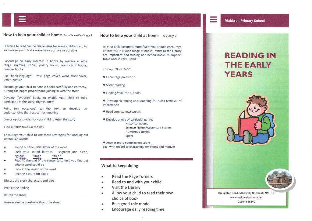 Reading in Early Years 1