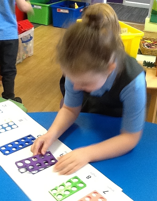 Recognising Numicon Shapes on a number line