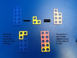 Numicon subtraction number sentence Class 1